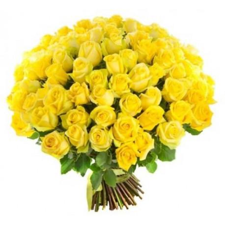 101 желтая роза Розы