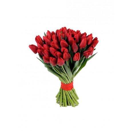 Tulpju pušķis - Sarkans Ziedu pušķi