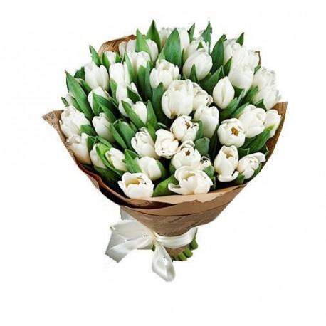 Букет тюльпанов - Белый Букеты цветов