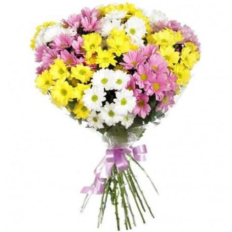 Ziedu pušķis - Krizantēmas Ziedu pušķi