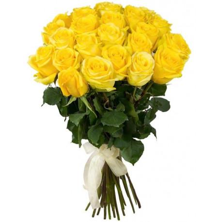 Букет из 21 розы - Желтый Розы