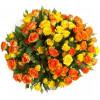 Orange yellow bush roses Roses