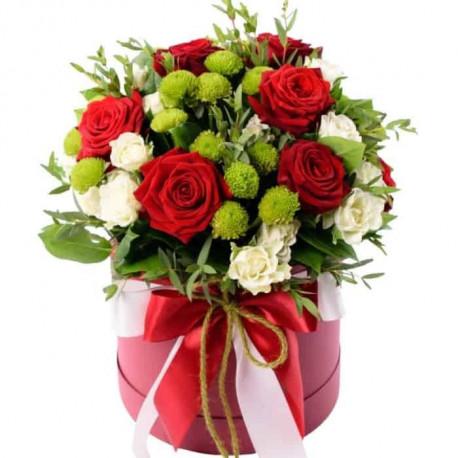 Ziedu kaste - Rozes un Krizantēmas Ziedu kastītes