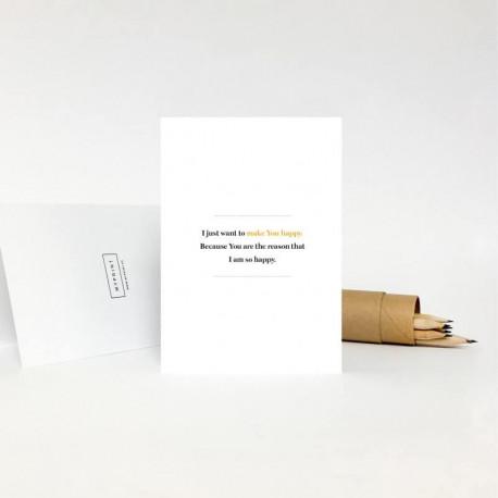 Поздравительная открытка - MAKE YOU HAPPY