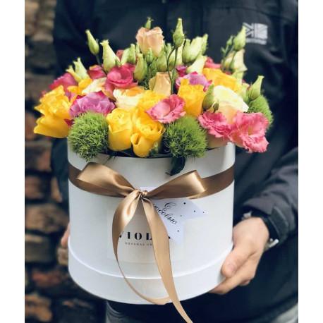 Flower Box с цветочной композицией Цветочные коробки