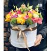 Flower box ar ziedu kompozīciju Ziedu kastītes