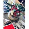 Цветы в шляпной коробке от флориста Цветочные коробки