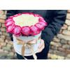 Фиолетовые и белые розы Цветочные коробки