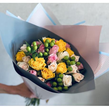 Букет из роз - Маленький Mix Розы