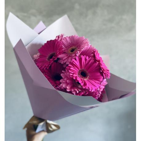 Ziedu pušķis - Gerbera Ziedu pušķi