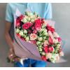 Розово белые кустовые розы Розы