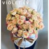 Flower Box ar dažādu krāsu rozēm Ziedu kastītes