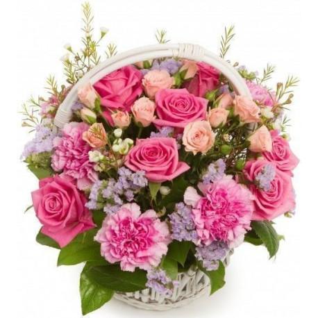 Цветочная корзина - Прекрасная Корзины цветов с доставкой