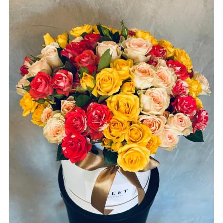 Маленькая коробка - Кустовая роза Цветочные коробки