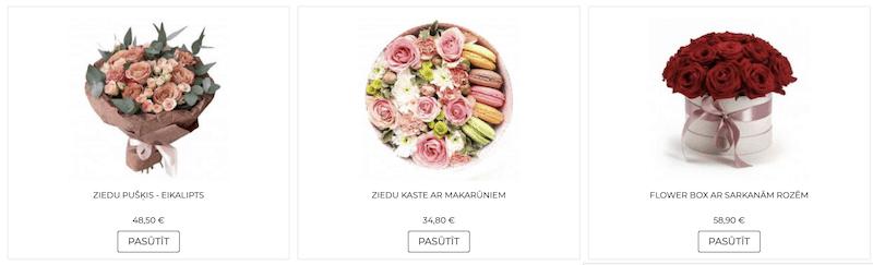 Kā pasūtīt ziedus 2